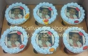 cup cake edible image