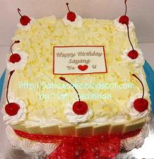 white forest cake 20x20cm