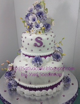 kue penagntin 2 susun decor buttercream (mbak sinta) 062237 blog