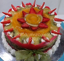 fruit peach puding cake