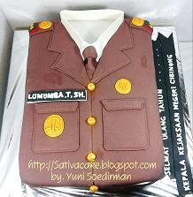 cake bentuk seragam kejaksaan