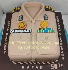 cake bentuk seragam polisi pamong praja